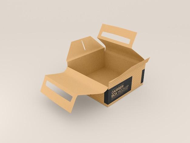 Maquete de caixa de entrega de papelão