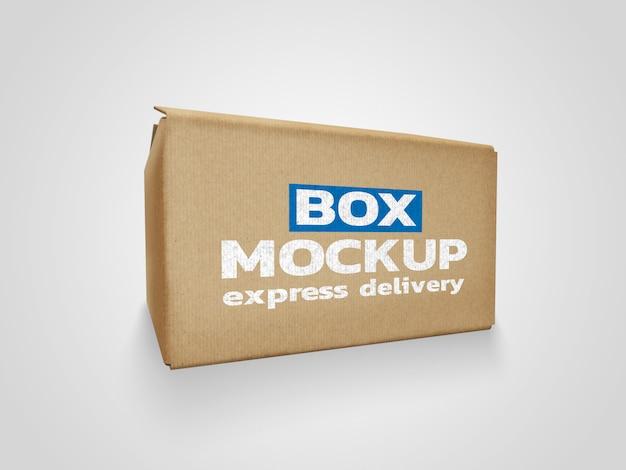 Maquete de caixa de entrega on-line