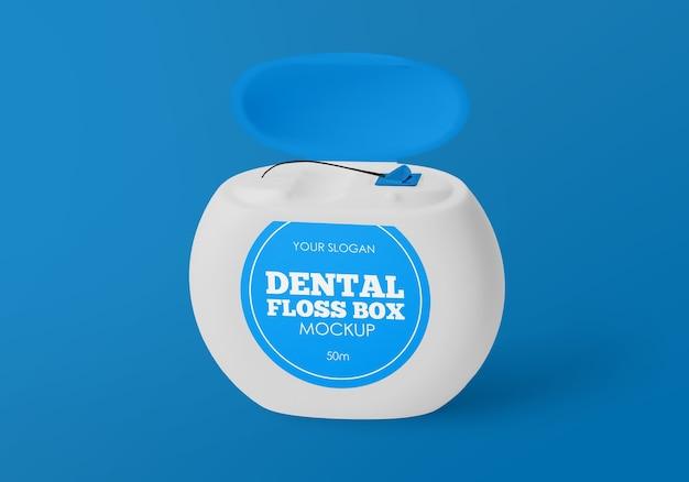 Maquete de caixa de fio dental isolada