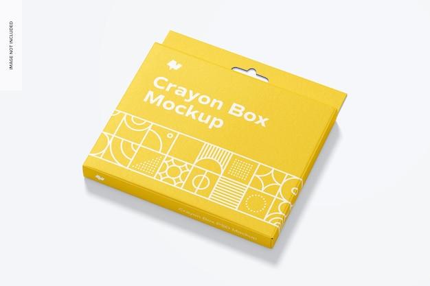 Maquete de caixa de giz de cera