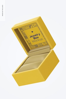 Maquete de caixa de joias, flutuante