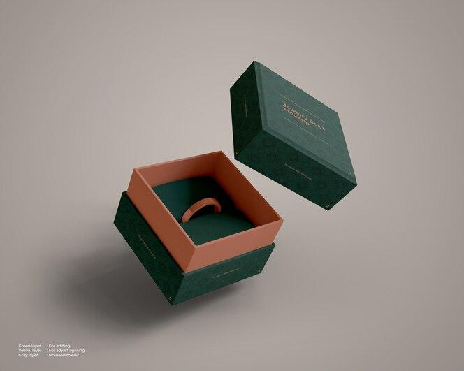 Maquete de caixa de jóias voadora