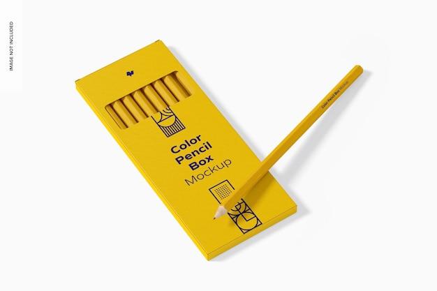 Maquete de caixa de lápis de cor
