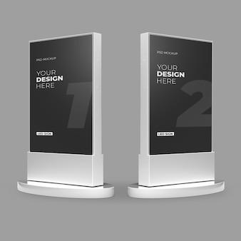 Maquete de caixa de luz led metálico branco