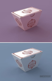 Maquete de caixa de macarrão de papel fosco