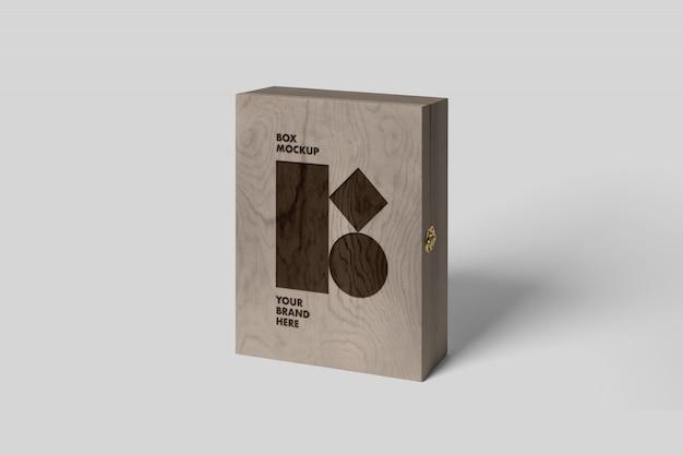 Maquete de caixa de madeira