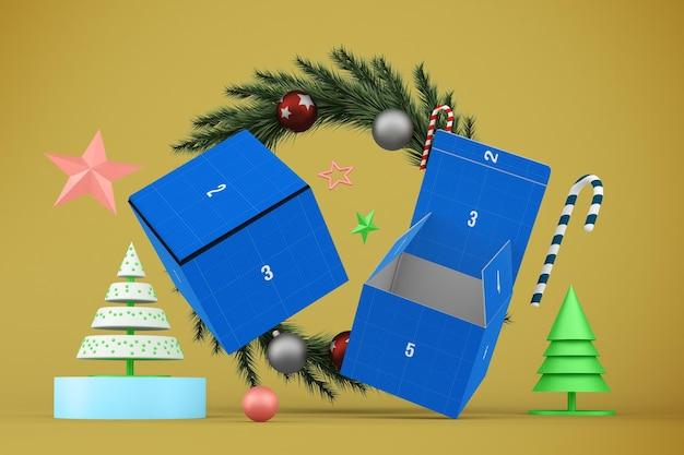 Maquete de caixa de natal