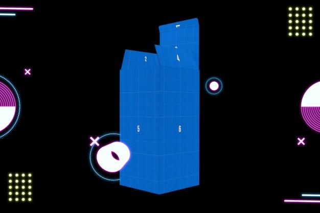 Maquete de caixa de néon