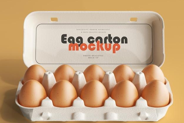 Maquete de caixa de ovo
