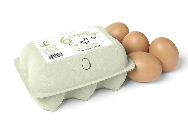 Maquete de caixa de ovos