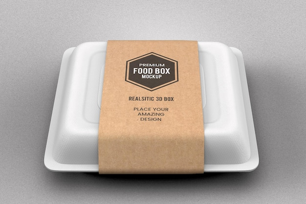Maquete de caixa de pacote de fast food em restaurante