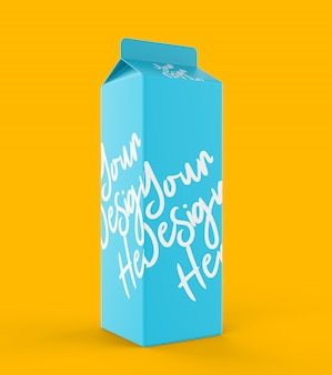 Maquete de caixa de papel de leite
