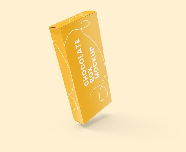 Maquete de caixa de papel fino