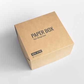 Maquete de caixa de papel