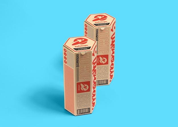 Maquete de caixa de papelão de embalagem