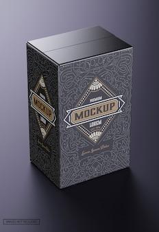 Maquete de caixa de papelão de luxo