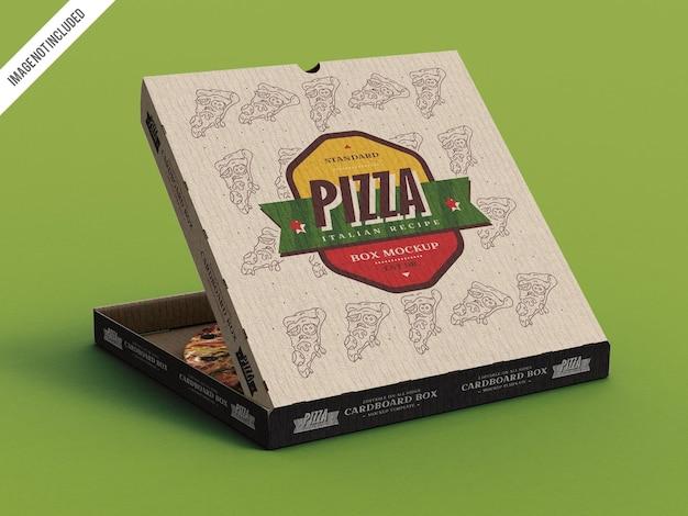 Maquete de caixa de papelão de pizza