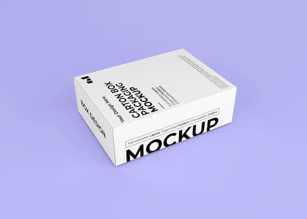 Maquete de caixa de papelão para a marca do produto