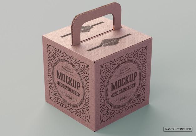 Maquete de caixa de papelão Psd Premium