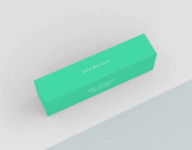 Maquete de caixa de papelão
