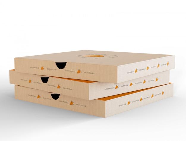 Maquete de caixa de pizza fechada