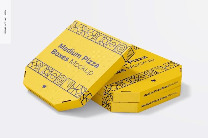Maquete de caixa de pizza média