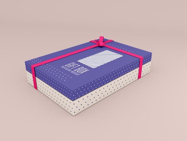 Maquete de caixa de presente decorada