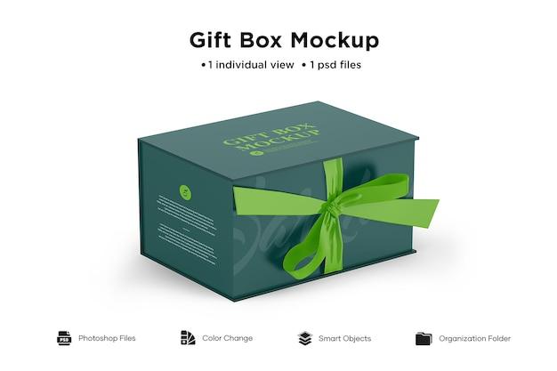 Maquete de caixa de presente isolada