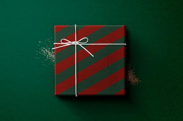 Maquete de caixa de presente psd com fita