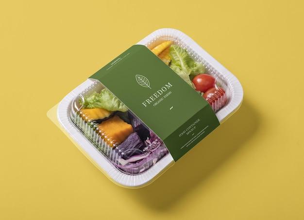 Maquete de caixa de recipiente de comida para viagem