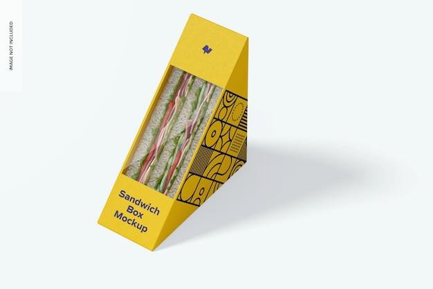 Maquete de caixa de sanduíche