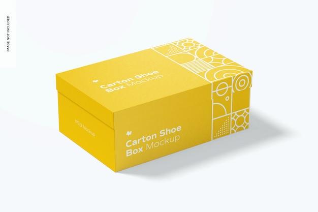 Maquete de caixa de sapato de papelão
