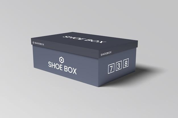 Maquete de caixa de sapato