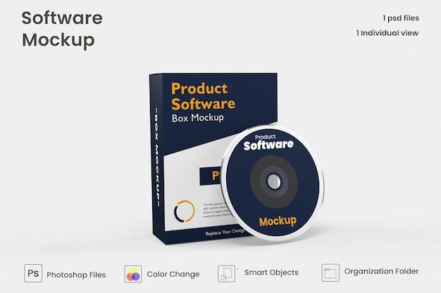 Maquete de caixa de software psd grátis