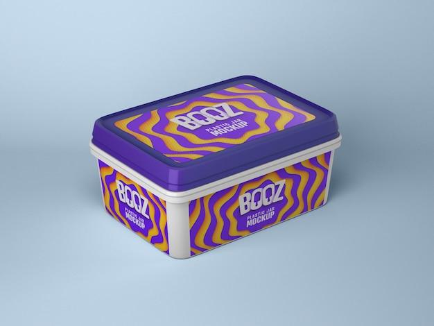 Maquete de caixa de sorvete brilhante