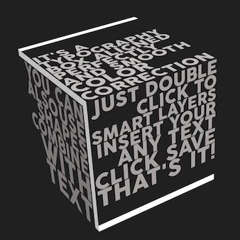 Maquete de caixa de tipografia