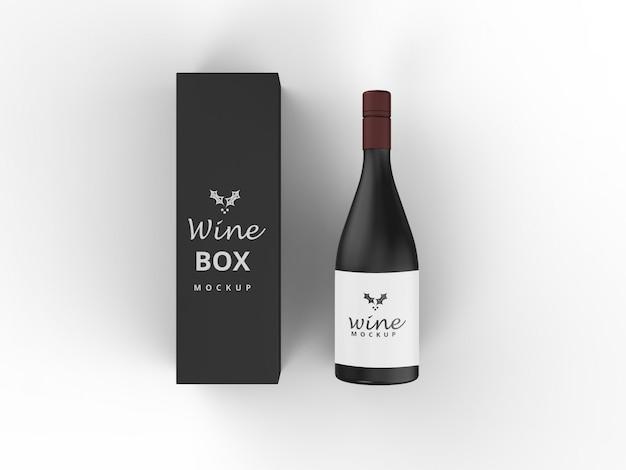 Maquete de caixa de vinho