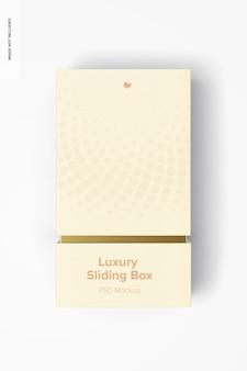 Maquete de caixa deslizante de luxo