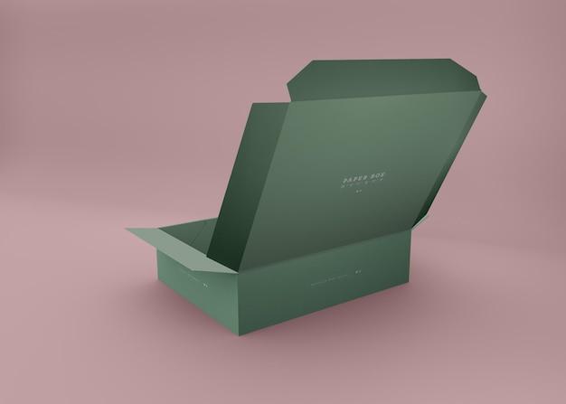 Maquete de caixa dobrável