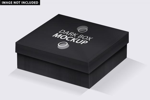 Maquete de caixa escura