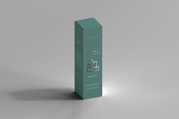 Maquete de caixa isolada