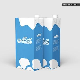 Maquete de caixa pequena de leite ou suco