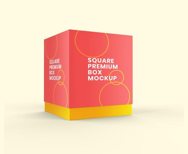 Maquete de caixa premium quadrada