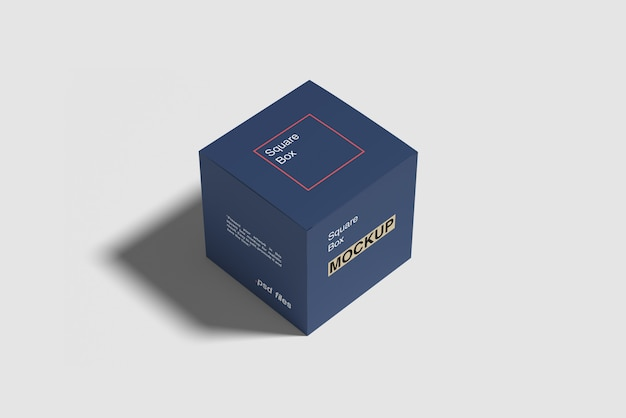 Maquete de caixa quadrada