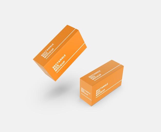 Maquete de caixa retangular retangular