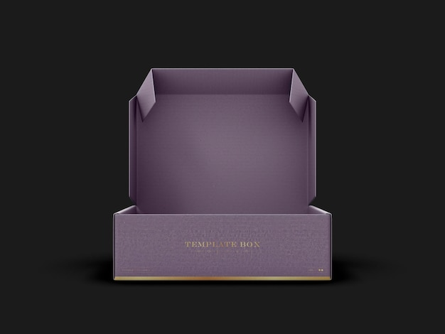 Maquete de caixa retangular