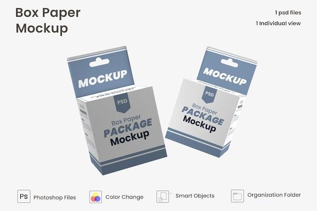 Maquete de caixa suspensa premium psd