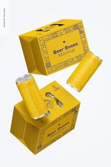 Maquete de caixas de cerveja