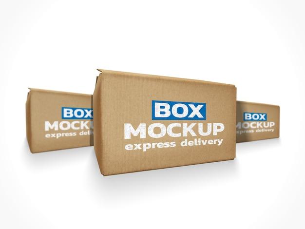 Maquete de caixas de entrega on-line