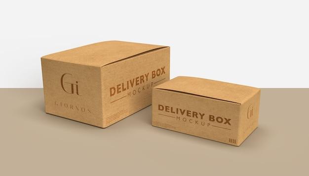 Maquete de caixas de entrega
